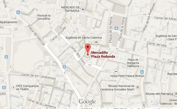 Eine Karte die zeigt, wo der Plaza Redonda liegt