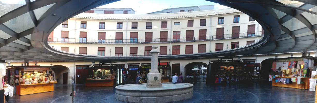 Ein Panoramabild vom Plaza Redonda