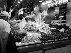 Eine Fischtheke im Mercado Centra