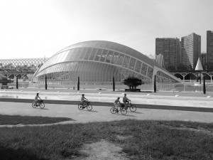 Das L'Hemisfèric der Stadt der Künste und der Wissenschaften in Valencia
