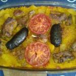 Ein valencianisches Ofenreisgericht